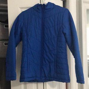 Faded Glory Blue Puffer Jacket